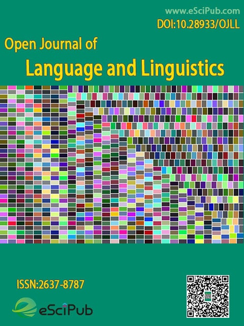 Open Journal of Language and Linguistics