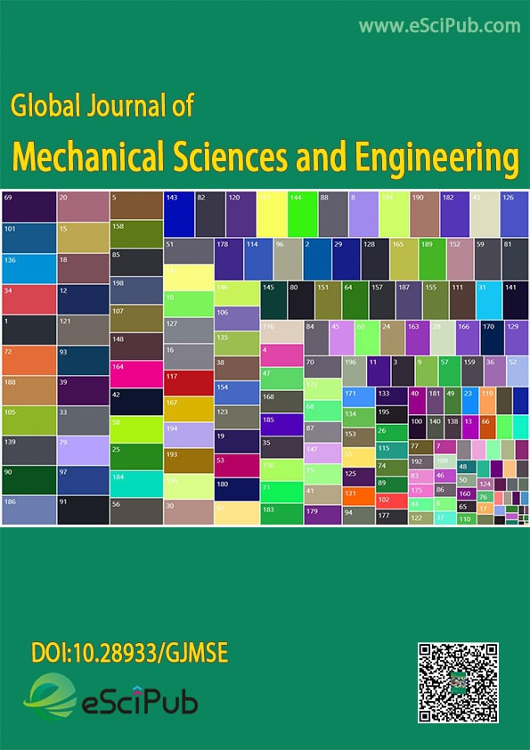 Global journal of Mechanical Sciences and Engineering